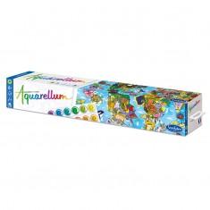 Aquarellum Giant World Map