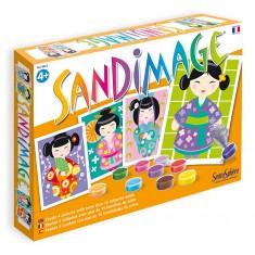 Sandimage Kokeshi Dolls